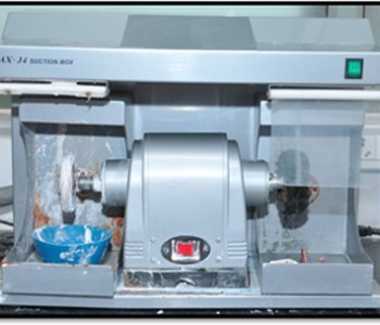 Heavy duty lathe with suction and  denture polishing attachment