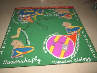 Rangoli competition on oral & maxillofacial surgeon day