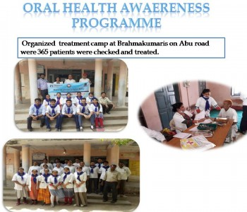 ORAL HEALTH AWAERENESS PROGRAM abu camp 2019