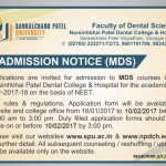 Admission Notice-MDS-2017